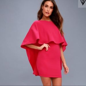 Lulu's Best Is Yet To Come Fuchsia Backless Dress